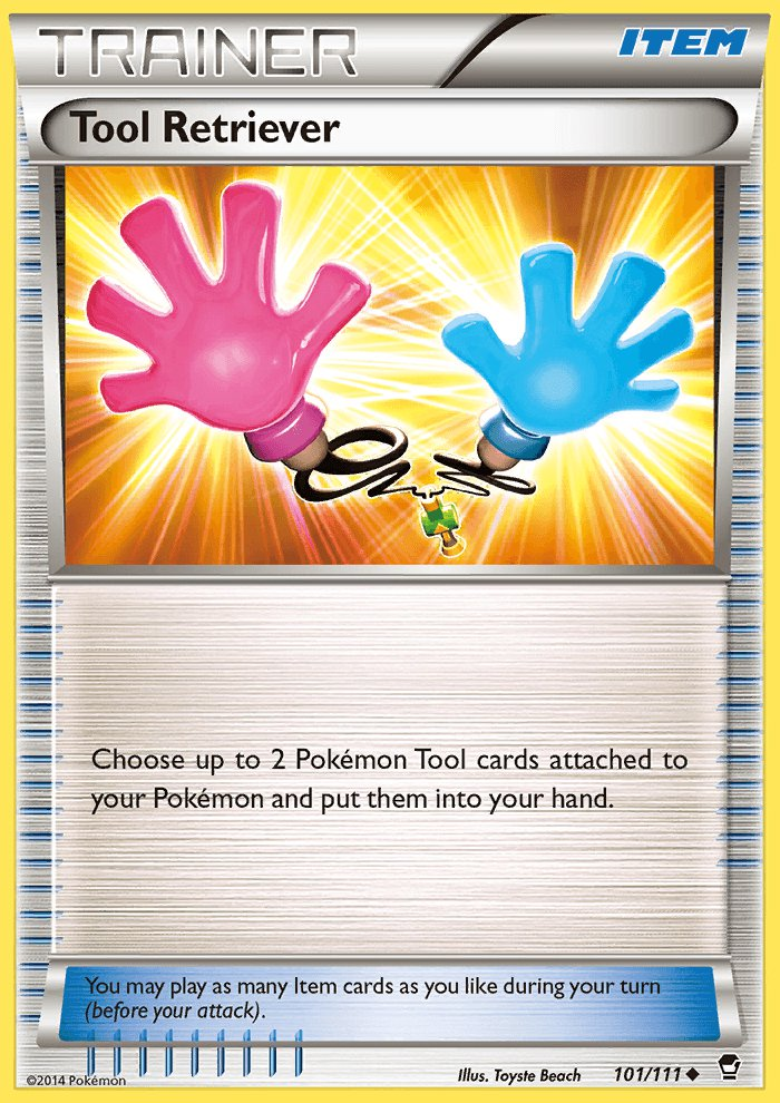 Pokemon XY Furious Fists Single Card Uncommon Tool Retriever 101/111