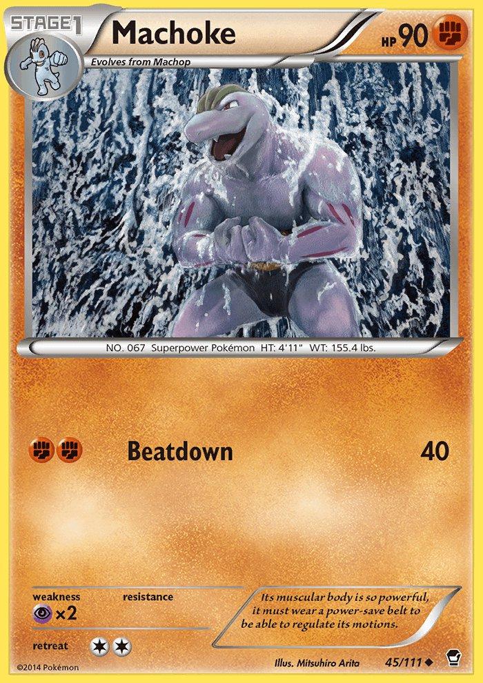 Pokemon XY Furious Fists Single Card Uncommon Machoke 45/111
