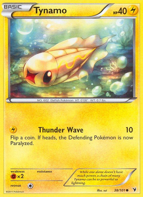 Pokemon B&W Noble Victories Single Card Common Tynamo 38/101