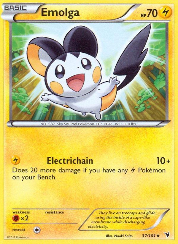 Pokemon B&W Noble Victories Single Card Uncommon Emolga 37/101