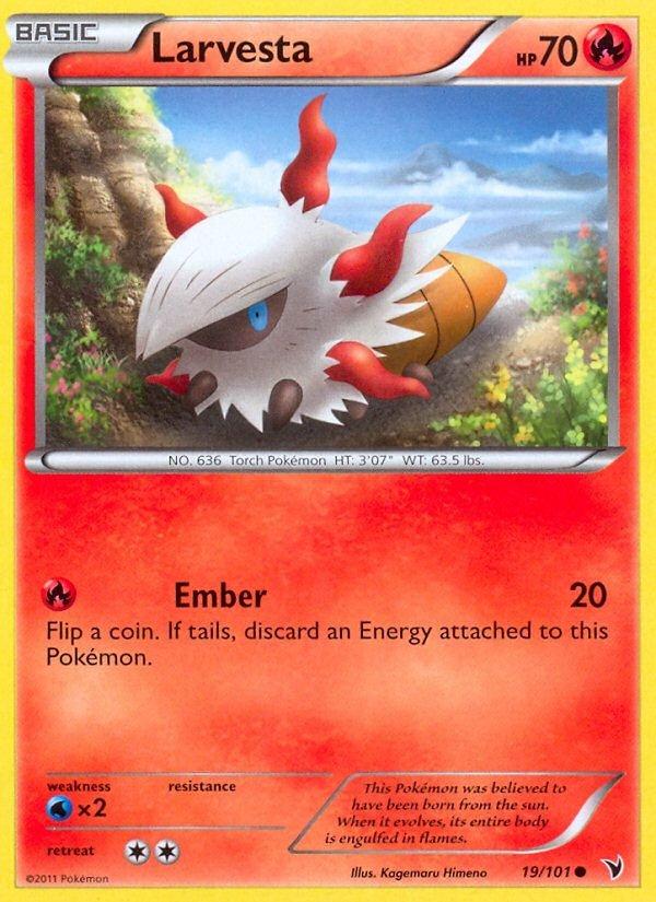Pokemon B&W Noble Victories Single Card Common Larvesta 19/101
