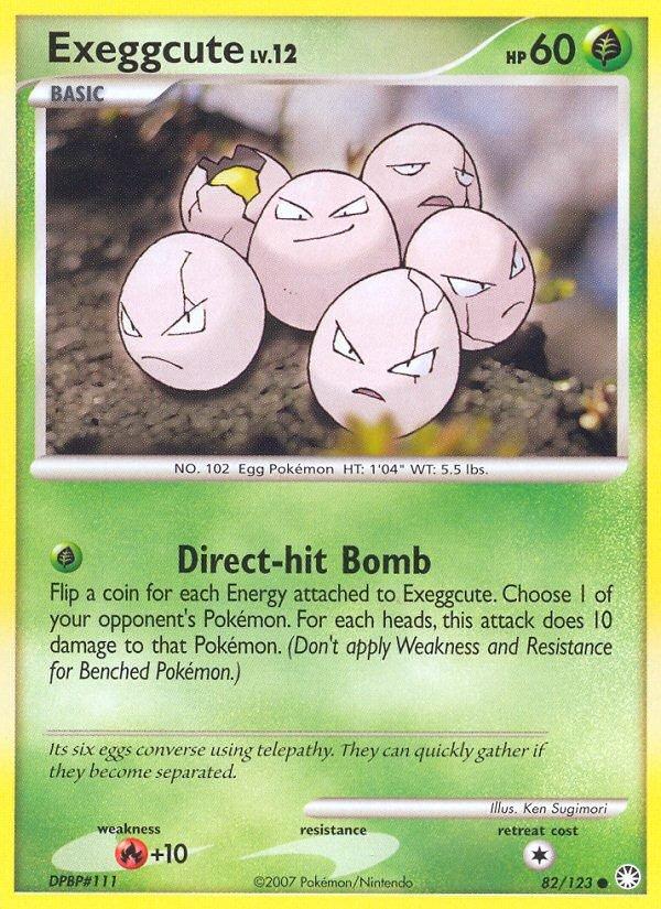 Pokemon D&P Mysterious Treasures Single Card Common Exeggcute 82/123