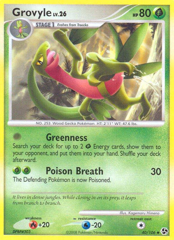 Pokemon D&P Great Encounters Single Card Uncommon Grovyle 40/106