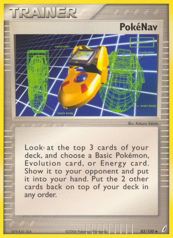 Pokemon EX Crystal Guardians Single Card Uncommon PokeNav 83/100