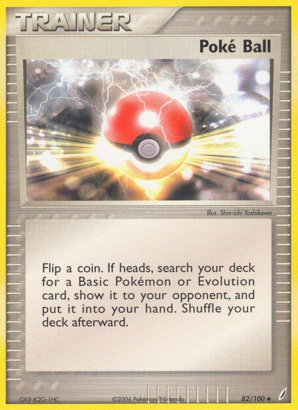 Pokemon EX Crystal Guardians Single Card Uncommon Poke Ball 82/100