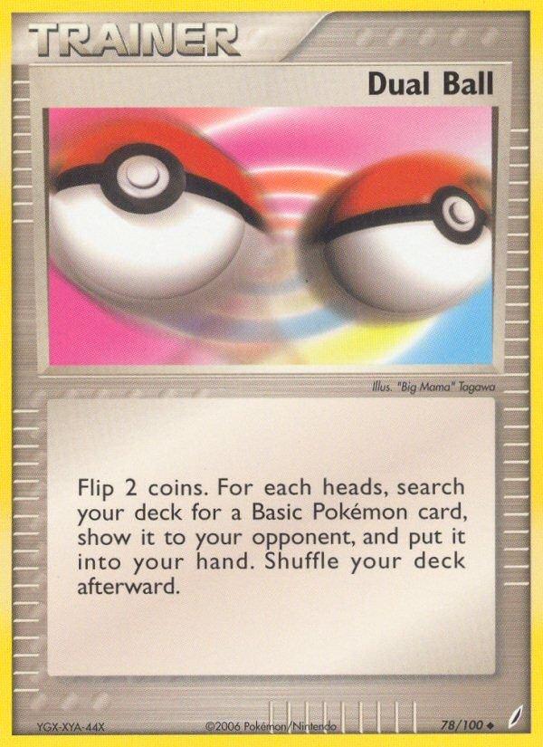 Pokemon EX Crystal Guardians Single Card Uncommon Dual Ball 78/100