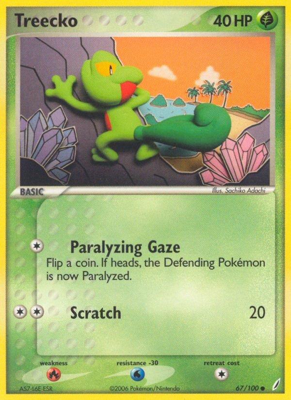 Pokemon EX Crystal Guardians Single Card Common Treecko 67/100