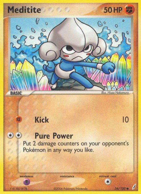Pokemon EX Crystal Guardians Single Card Common Meditite 56/100