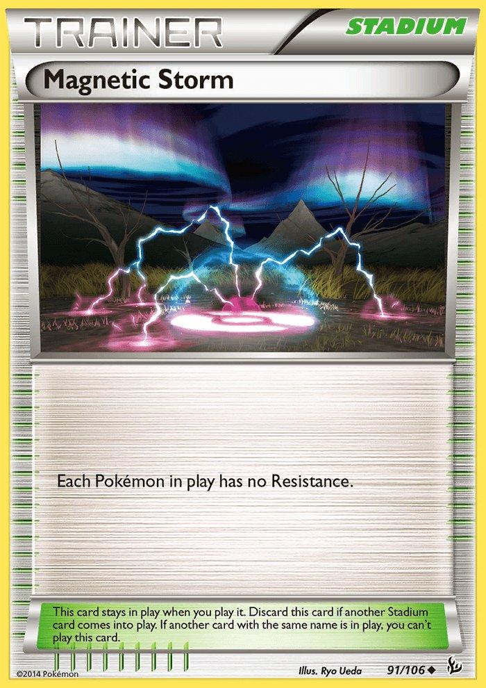 Pokemon XY FlashFire Single Card Uncommon Magnetic Storm 91/106