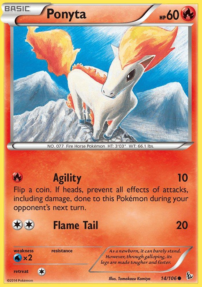 Pokemon XY FlashFire Single Card Common Ponyta 14/106