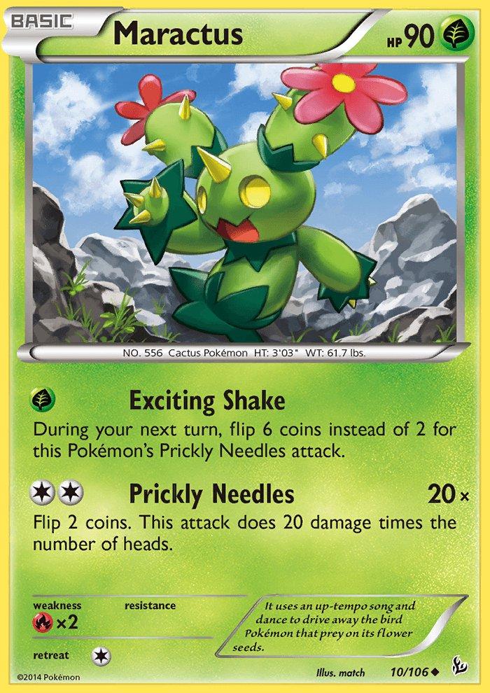 Pokemon XY FlashFire Single Card Uncommon Maractus 10/106