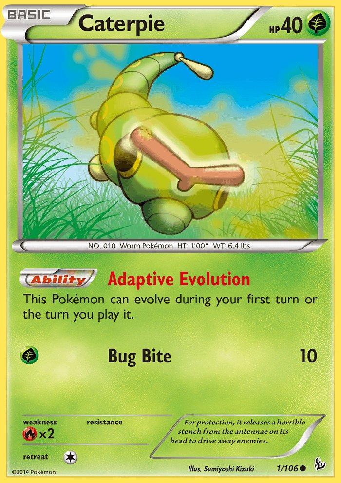 Pokemon XY FlashFire Single Card Common Caterpie 1/106