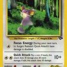 Pokemon Gym Challenge Single Card Common Lt. Surge's Rattata 85/132