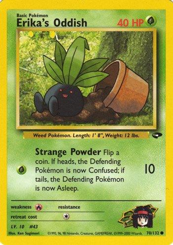 Pokemon Gym Challenge Single Card Common Erika's Oddish 70/132