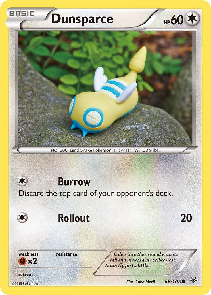 Pokemon XY Roaring Skies Single Card Common Dunsparce 68/108
