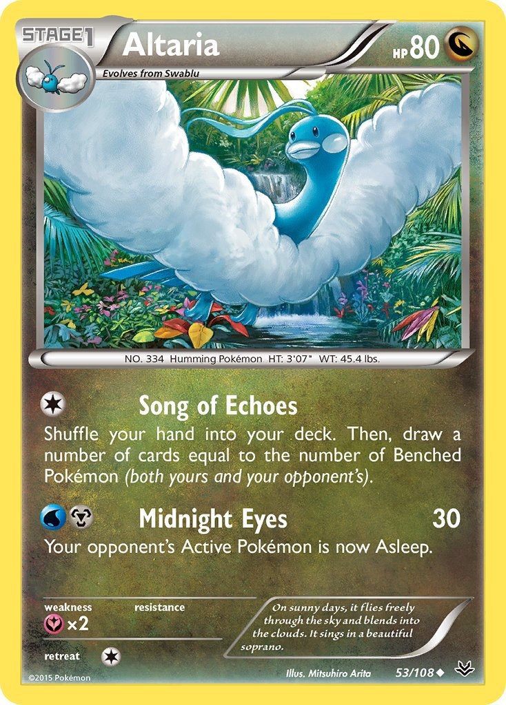 Pokemon XY Roaring Skies Single Card Uncommon Altaria 53/108