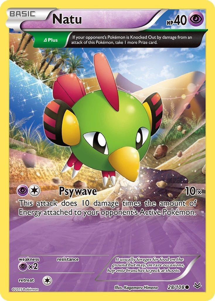 Pokemon XY Roaring Skies Single Card Common Natu 28/108