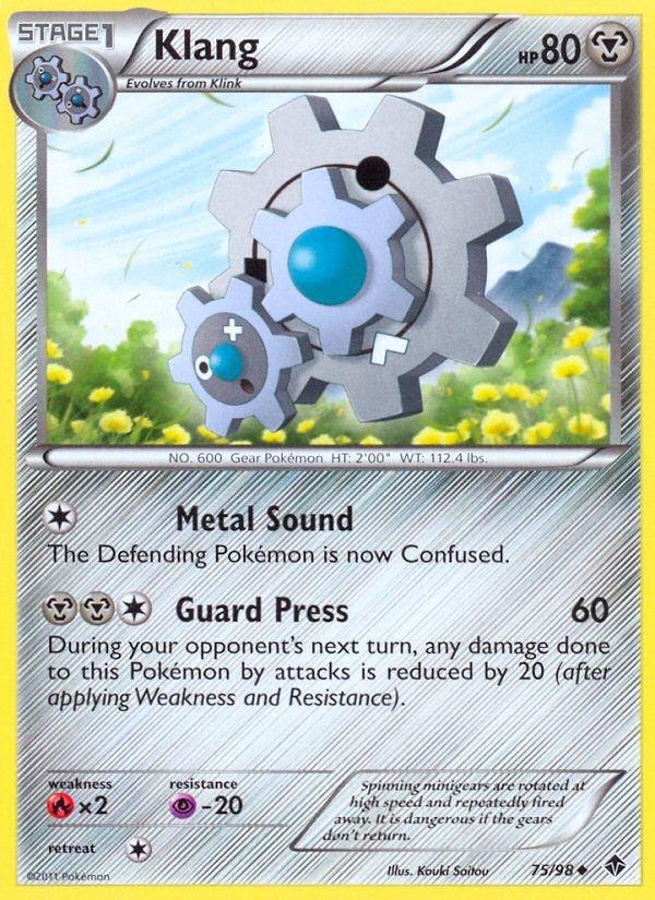 Pokemon B&W Emerging Powers Single Card Uncommon Klang 75/98