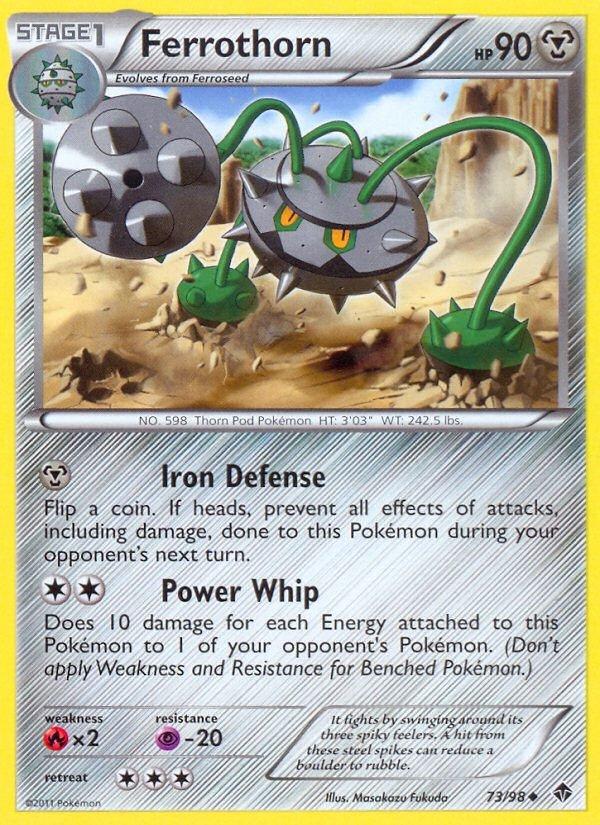 Pokemon B&W Emerging Powers Single Card Uncommon Ferrothorn 73/98