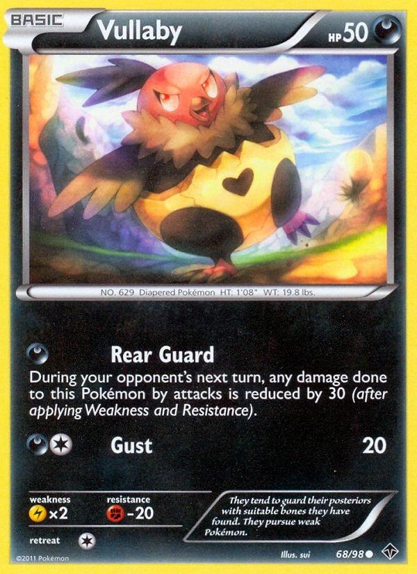 Pokemon B&W Emerging Powers Single Card Common Vullaby 68/98