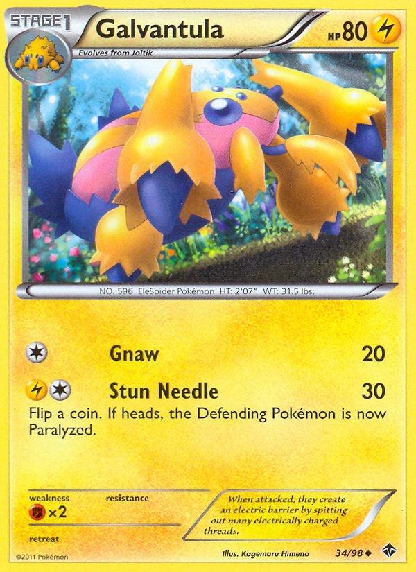 Pokemon B&W Emerging Powers Single Card Uncommon Galvantula 34/98