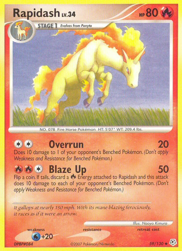 Pokemon Diamond & Pearl Base Set Single Card Uncommon Rapidash 59/130