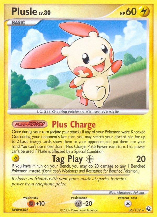 Pokemon D&P Secret Wonders Single Card Rare Plusle 36/132
