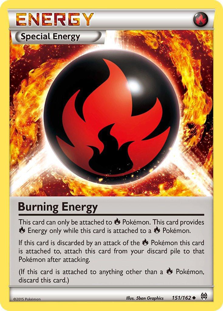 Pokemon XY BREAKthrough Single Card Uncommon Burning Energy 151/162