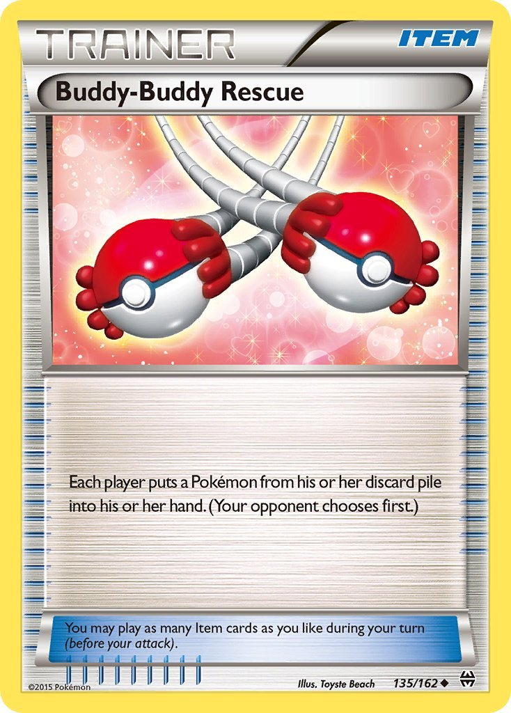 Pokemon XY BREAKthrough Single Card Uncommon Buddy-Buddy Rescue 135/162