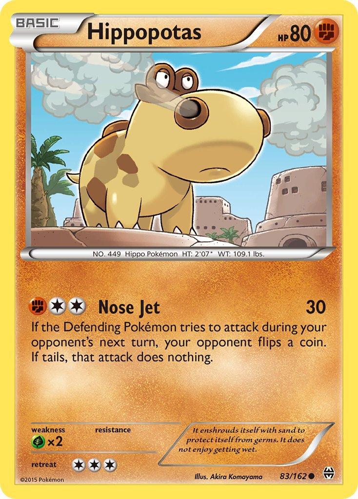 Pokemon XY BREAKthrough Single Card Common Hippopotas 83/162