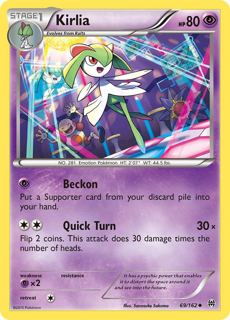 Pokemon XY BREAKthrough Single Card Uncommon Kirlia 69/162