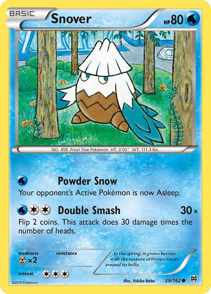 Pokemon XY BREAKthrough Single Card Common Snover 39/162