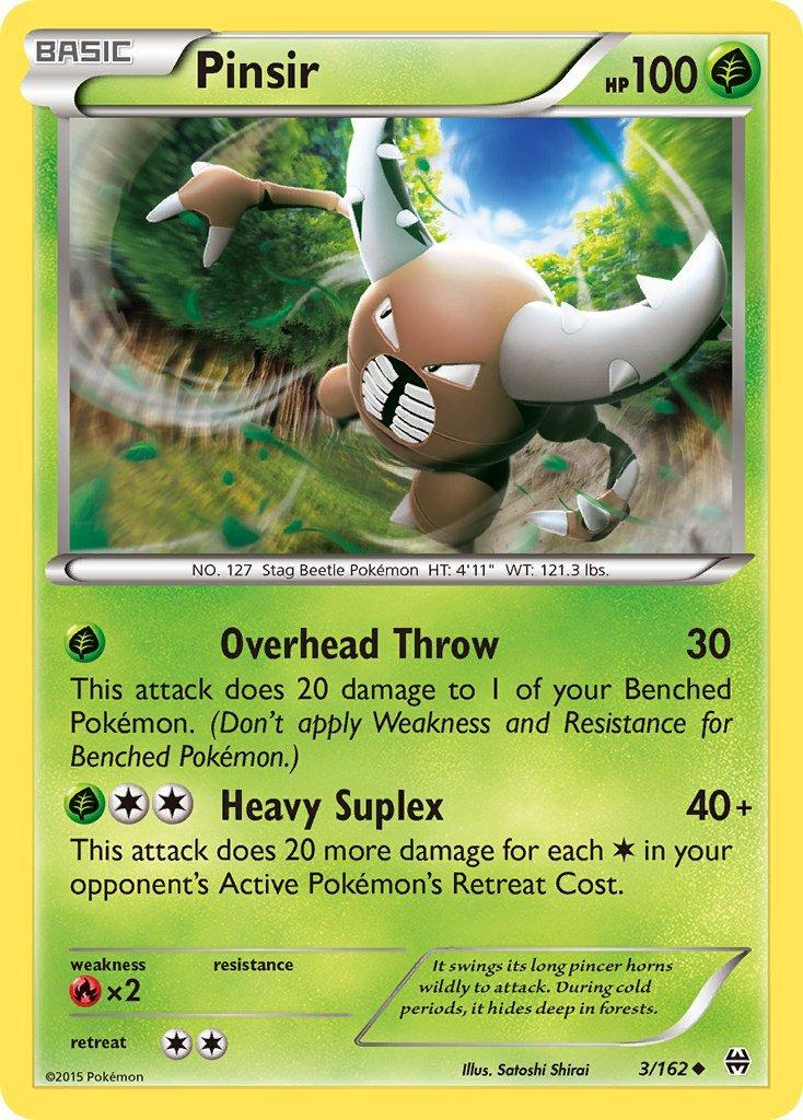 Pokemon XY BREAKthrough Single Card Uncommon Pinsir 3/162