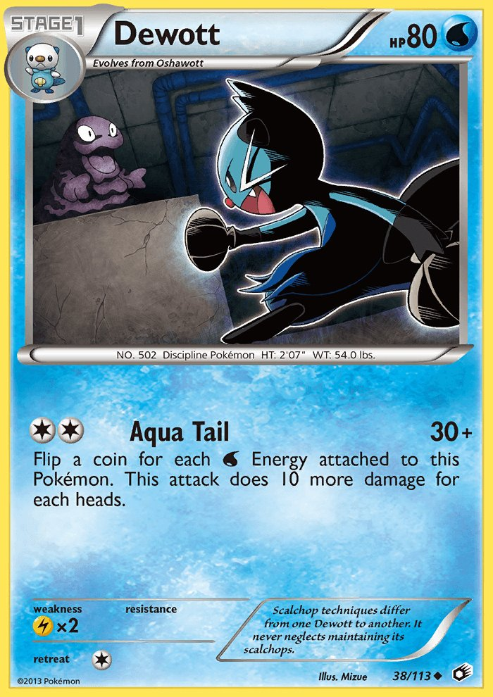 Pokemon B&W Legendary Treasures Single Card Uncommon Dewott 38/113