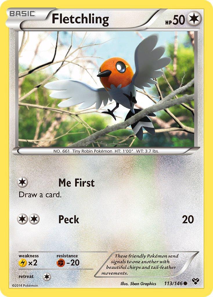 Pokemon XY Base Set Single Card Common Fletchling 113/146