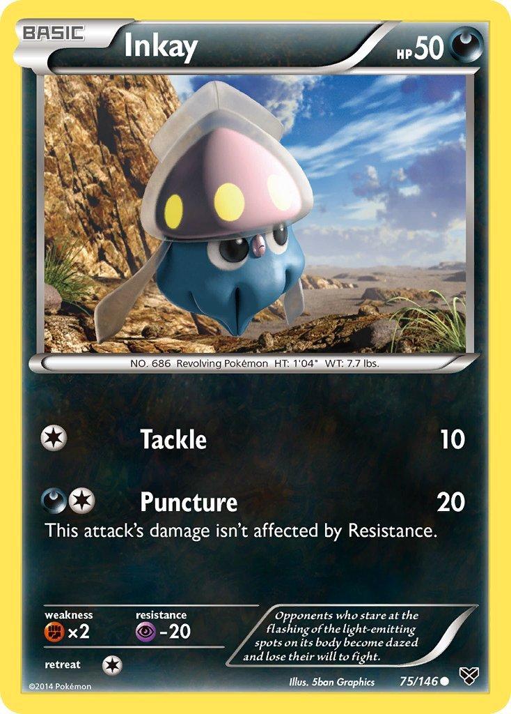 Pokemon XY Base Set Single Card Common Inkay 75/146