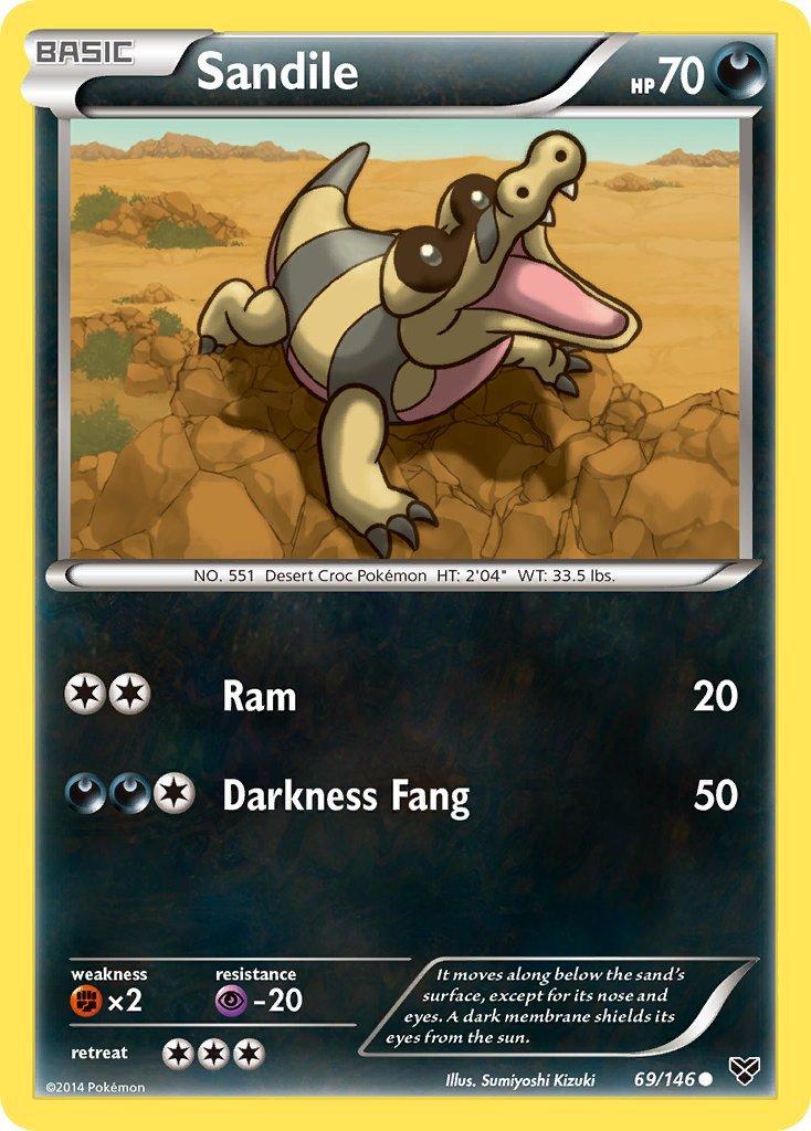 Pokemon XY Base Set Single Card Common Sandile 69/146