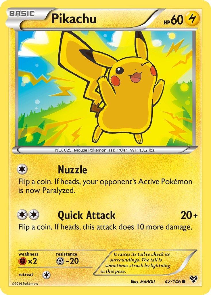 Pokemon XY Base Set Single Card Common Pikachu 42/146