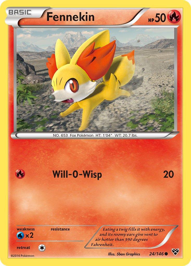Pokemon XY Base Set Single Card Common Fennekin 24/146
