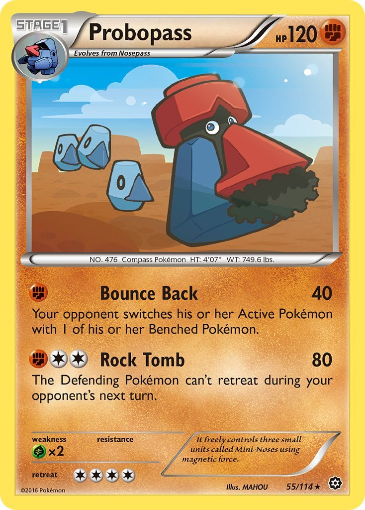 Pokemon XY Steam Siege Single Card Rare Probopass 55/114