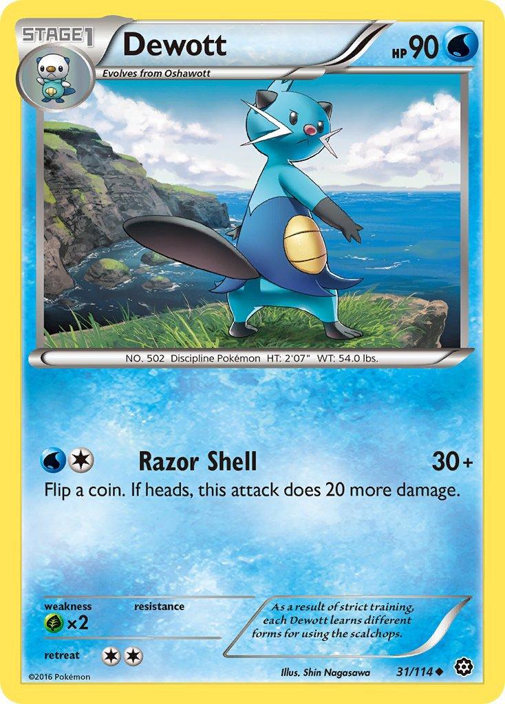 Pokemon XY Steam Siege Single Card Uncommon Dewott 31/114
