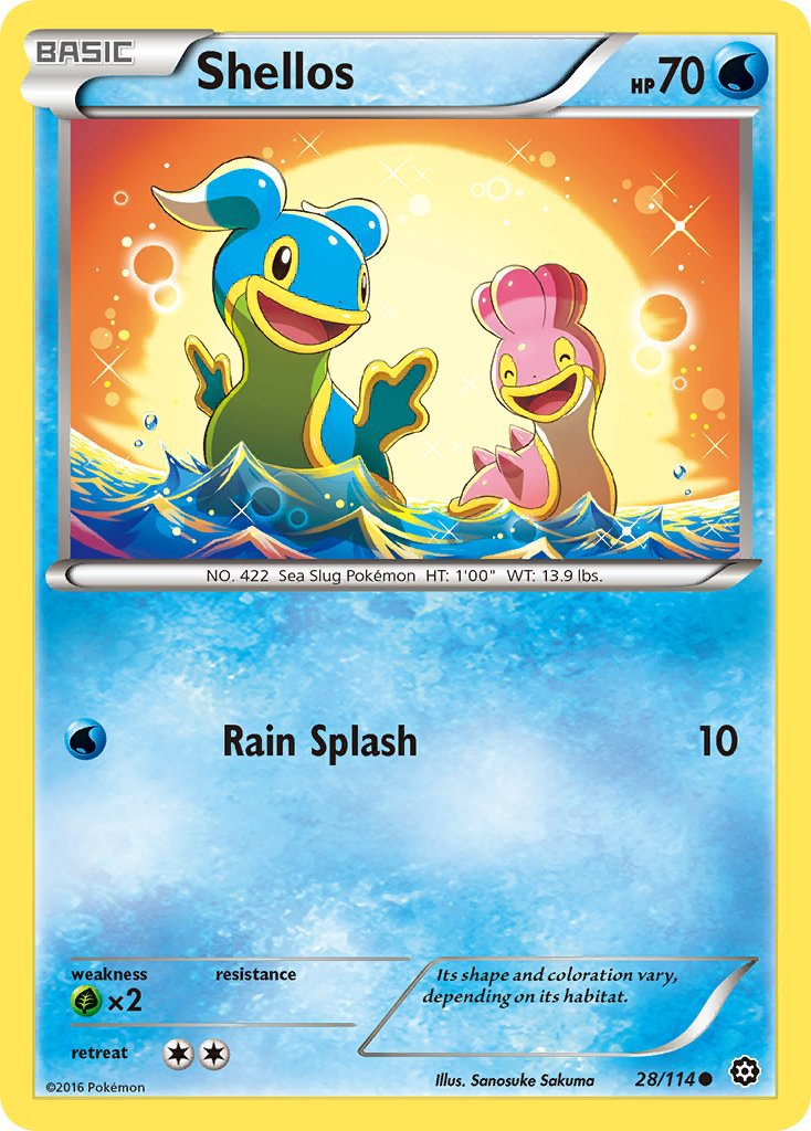 Pokemon XY Steam Siege Single Card Common Shellos 28/114