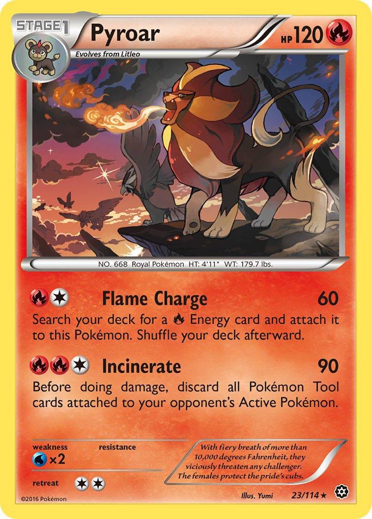 Pokemon XY Steam Siege Single Card Rare Pyroar 23/114
