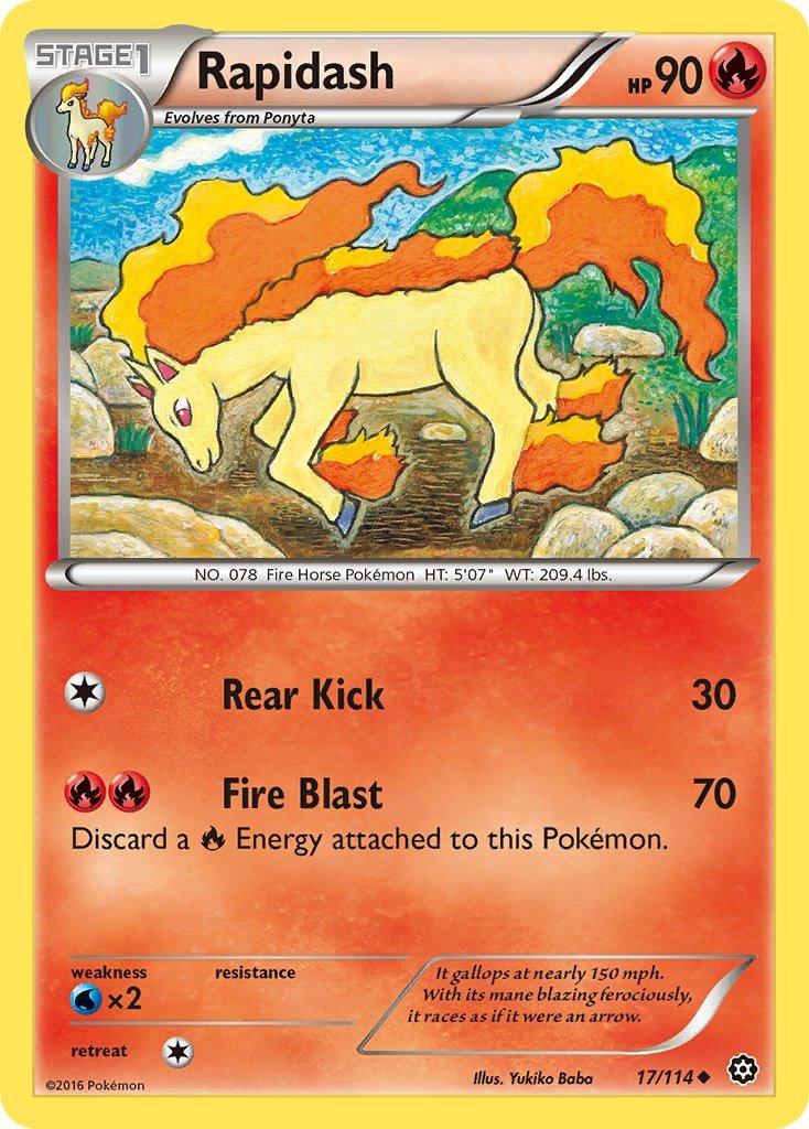 Pokemon XY Steam Siege Single Card Uncommon Rapidash 17/114