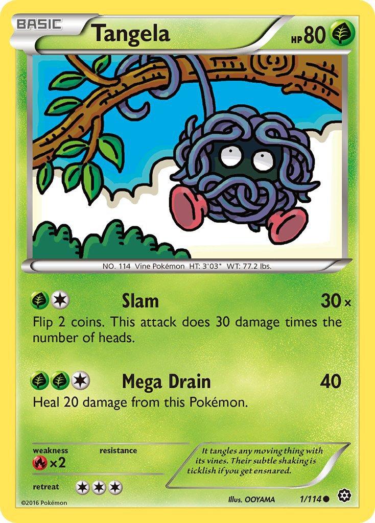 Pokemon XY Steam Siege Single Card Common Tangela 1/114