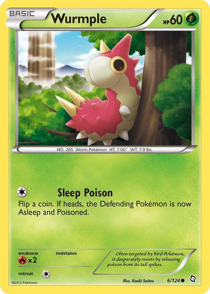 Pokemon B&W Dragons Exalted Single Card Common Wurmple 6/124