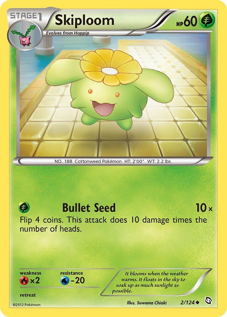 Pokemon B&W Dragons Exalted Single Card Uncommon Skiploom 2/124