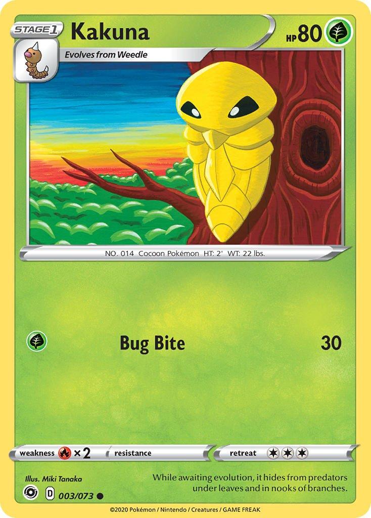 Pokemon Champion's Path Single Card Common Kakuna 003/073
