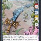 Neopets TCG Curse of Maraqua Single Card Common Maractite Sword 109/120