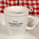 Starbucks Barista Coffee Cup Mug 2007 Black Lettering 4.5""